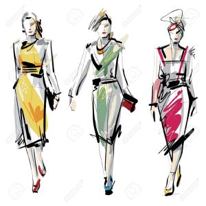 18630893-Fashion-models-Sketch-Stock-Vector-illustration