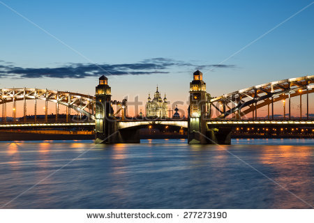 stock-photo-peter-the-great-bridge-and-smolny-cathedral-in-saint-petersburg-with-lights-in-the-summer-night-277273190